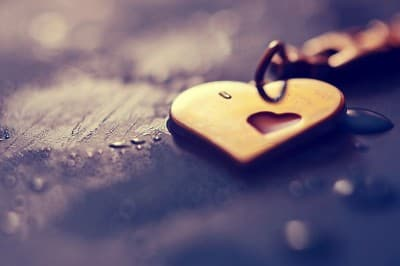 Photo of a heart with a key
